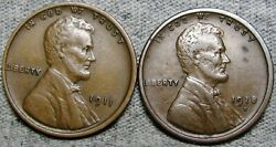 1911 1918-d Lincoln Cent Wheat Penny ---- Nice Lot  ---- S904