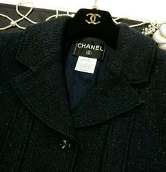 Jacket Mix Tweed Coco Mark Button From Japan Fedex No.1472