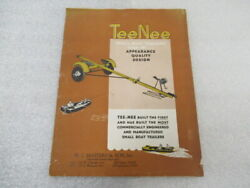 Pm162 Tee-nee Outboard Small Boat Trailers Model 60 Ob-c Brochure