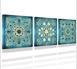 Pictures for bathrooms Vintage Flowers Pattern Bathroom Wall Art Decor Guestroom