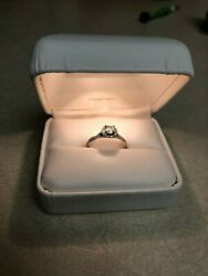 Wedding Ring Set With14k White Gold .41ct Diamondsandnbspgia Report Included
