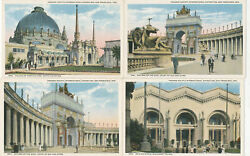 9 Diff. Panama-pacific International Exposition Official Postcards 's 1940-1999