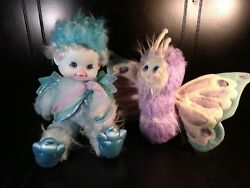 Wonder Whims 1985 Doug And Debby Henning Feather Blue Plush Doll Marvin Glass
