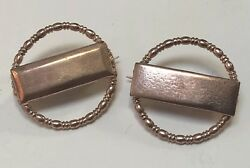 Lot Of 2 Vintage 1940's Wwii Us Army 2nd Lieutenant Sweetheart Lapel Pins