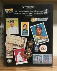 Sotheby's Copeland Collection Baseball Sports Memorabilia And Sale Results 1991 Hc