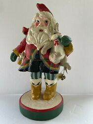 House Of Hatten Denise Calla Santa With Bunny Rabbit, Mouse And Cardinal Bird 13