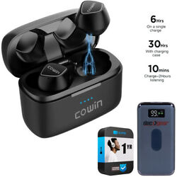Cowin Ky02 True Wireless Bluetooth Sports Eearbuds Black + Power Protection Pack