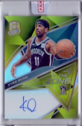 2019-20 Panini Spectra Kyrie Irving Gold On Card Auto Prizm In The Zone /10 Nets