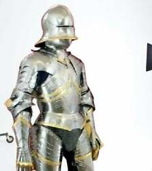 Antique Medieval German Gothic Suit Of Armor 15th Century Knight Armor Suit Gift