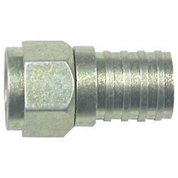 Eagle Aspen 500285 Rg6 Zinc-plated Connectors O-ring And Gel 100 Pack