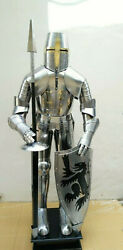 Medieval Cosplay Warrior Costume Knight Full Body Armor Crusader Suit Of Armor