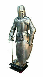 Antique Full Body Armor Medieval Knight Wearable Suit Of Armor Crusader Combat