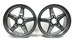 Race Star 17x9.5 Wheels 17 Rims W/ 6 Back Spacing And 5x120 Bolt Pattern Used