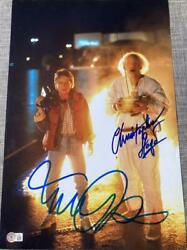 Michael J Fox Christopher Lloyd Back To The Future Signed 12x18 Poster Bas B