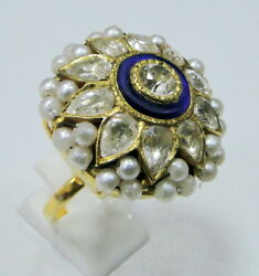 Vintage Antique 22 Ct Gold Cocktail Ring Jewelry
