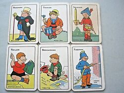 Antique Playing Cards Card Game Dual Snap + Snip German Printed For Uk 1914
