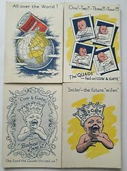 Vintage Playing Cards Card Game Wide Cow And Gate Quads Smiler Snap 1st Ed 1936