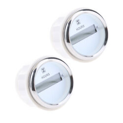 2pc Outboard Engine Hour Meter Gauge Marine Boat 52mm 2inch Led Indicator White