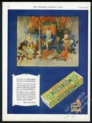 1927 Wrigley's Double Mint Gum Old King Spear Art Vintage Print Ad