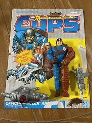 Cops N Crooks Officer Bowzer And Blitz Complete With Cardback 1988 Hasbro C.o.p.s.