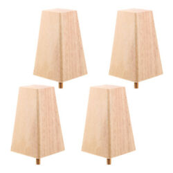 4pcs Unfinished Solid Wood Sofa Couch Furniture Legs Plinth Leg Replacement
