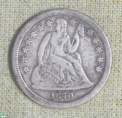 1840 With Drapery Seated Liberty Dime - Nice Detail