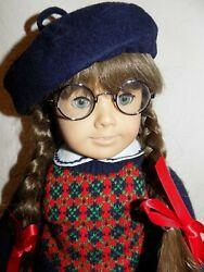 Retired White Body Pleasant Company Molly American Girl Doll In Meet Outfit