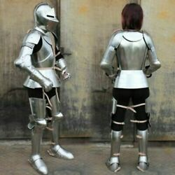 Antique Handmade Medieval Wearable Knight Woman Full Armor Costume Halloween