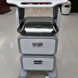 Trolley Double Drawer Pedestal Rolling Car Stand Holder For Spa Beauty Equipment