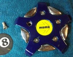 X1 Momo Italy Blue With Yellow Emblem Decal Custom Wheel Center Cap Cover '94