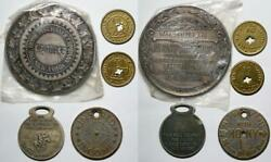 5 Vintage Medals Sterling Silver Home Insurance Company Paul Revere Life Token