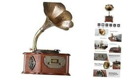 Record Player Retro Turntable All In One Vintage Phonograph Nostalgic
