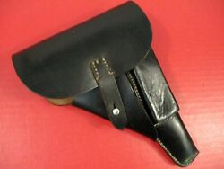 Wwii Era German Police Leather Flap Holster For The Walther P38 Pistol - Xlnt
