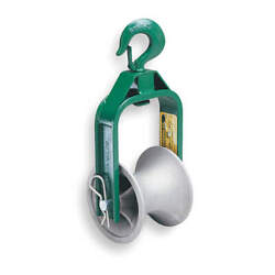 Greenlee 650 Cable Puller Sheave,hook,6 In