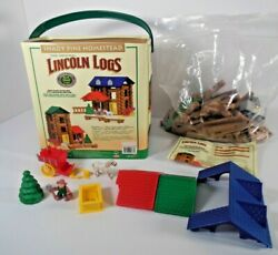 Lincoln Logs Shady Pine Homestead Building Set 00877 120 Pc + Extra Bag Of Logs
