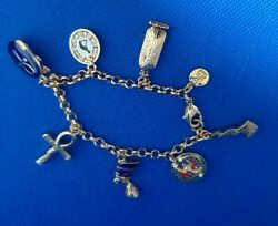 Brooks And Bentley Charm Bracelet Egyptian Icons Rose Gold Colour With Gift Box