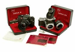 Pair Collectible Leica 35mm Cameras From The Estate Of Russ Meyer With Extras
