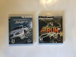 Need For Speed The Run And Shift Bundle Ps3,playstation 3 Racing Video Game 2pcs