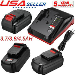 18v 3.7/3.8/4.5ah Nicd Battery For Porter Cable 18v Pc18b + Pcmvc Pcxmvc Charger