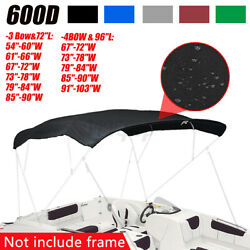 3 / 4 Bow Boat Bimini Top Replacement Canvas Cover Fabric No Frame Mutil Colors
