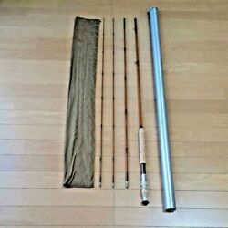 E.f. Payne Bamboo Fly Rod 410 9and0396and039and039 With Rod Socks And Tube Fishing Rod