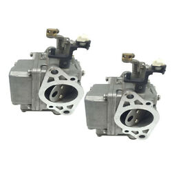 2x Boat Carb Carburetor Replace For Yamaha 2-stroke 9.9hp 15hp Outboards
