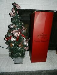 Waterford Holiday Heirlooms Pre-decorated 31 Snowberry Christmas Tree In Box