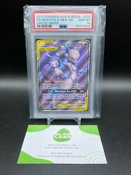 Mewtwo And Mew Gx Unified Minds Full Art Ultra Rare 222/236 Psa 10 Gem Mint