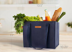 Viagdo Reusable Shopping Bags Washable Grocery Cart Trolley Extra Long Handles