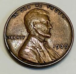 1939 Lincoln Wheat Back Penny Ddo Toned With Possible Genuine Damage On Reverse