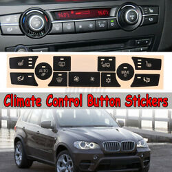 Ac Climate Control Button Stickers Kit Dash Decal Replacement For Bmw X