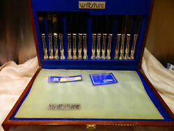 Wiltshire Stuart 58pce Cutlery Set In Wooden Canteen
