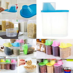 Kitchen Cereal Dispenser 1.9l Candy Food Storage Box Container Pantry Bins