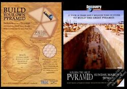 2003 Building The Great Pyramid Discovery Channel Tv Show Ad U-assemble Pyramid